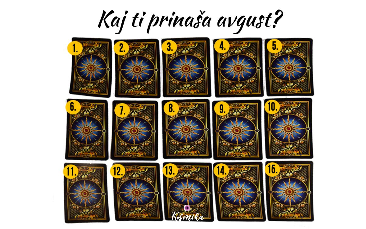 Tarot: kaj ti prinaša avgust