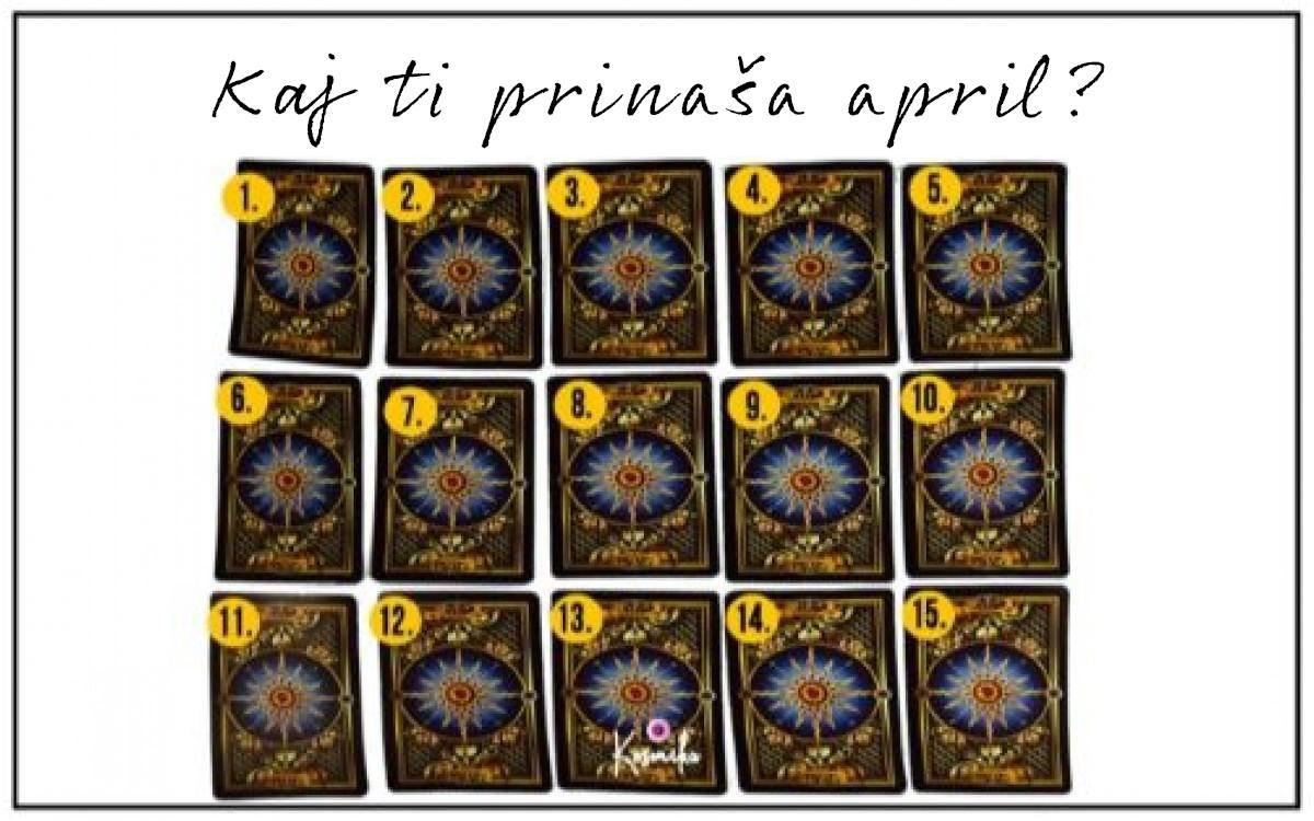 Tarot: kaj ti prinaša april?