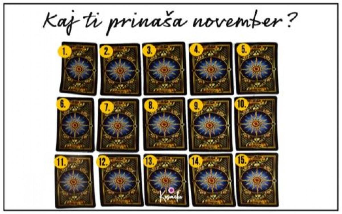 Karte za november