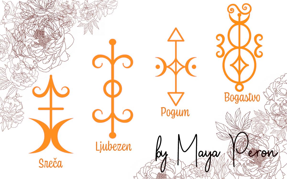 Vilinski simboli: bogastvo, ljubezen, sreča, pogum
