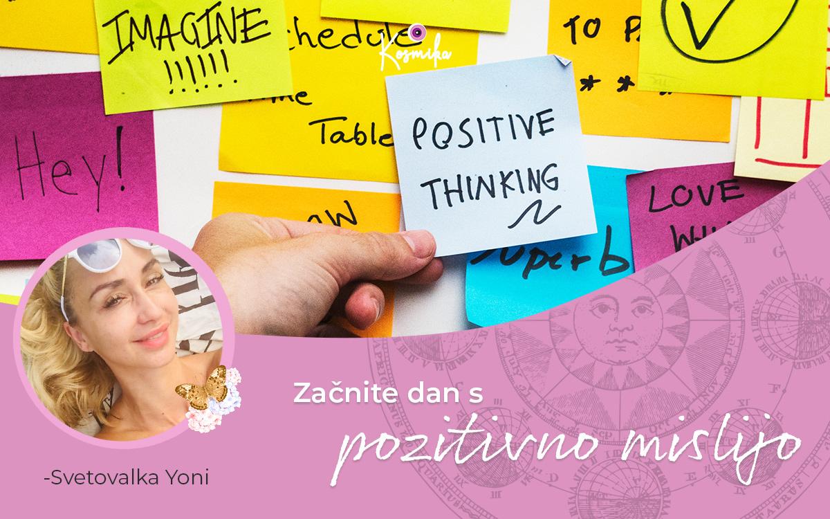 Začnite dan s pozitivno mislijo