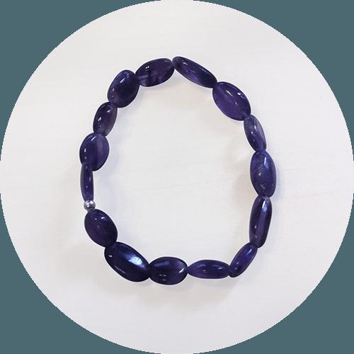 Zapestnica Ametist – okrogla