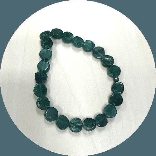 Zapestnica Aventurin-okrogla